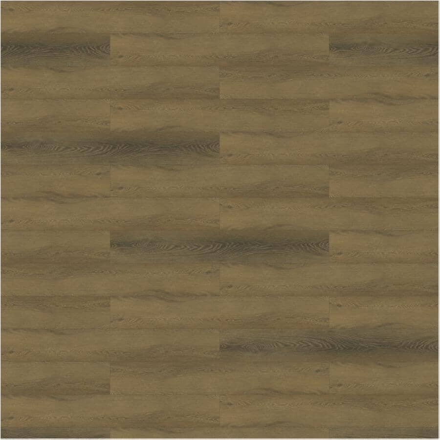 """TAIGA BUILDING PRODUCTS:Curate Collection 9"""" x 60"""" SPC Plank Flooring - Cognac, 22.54 sq. ft."""