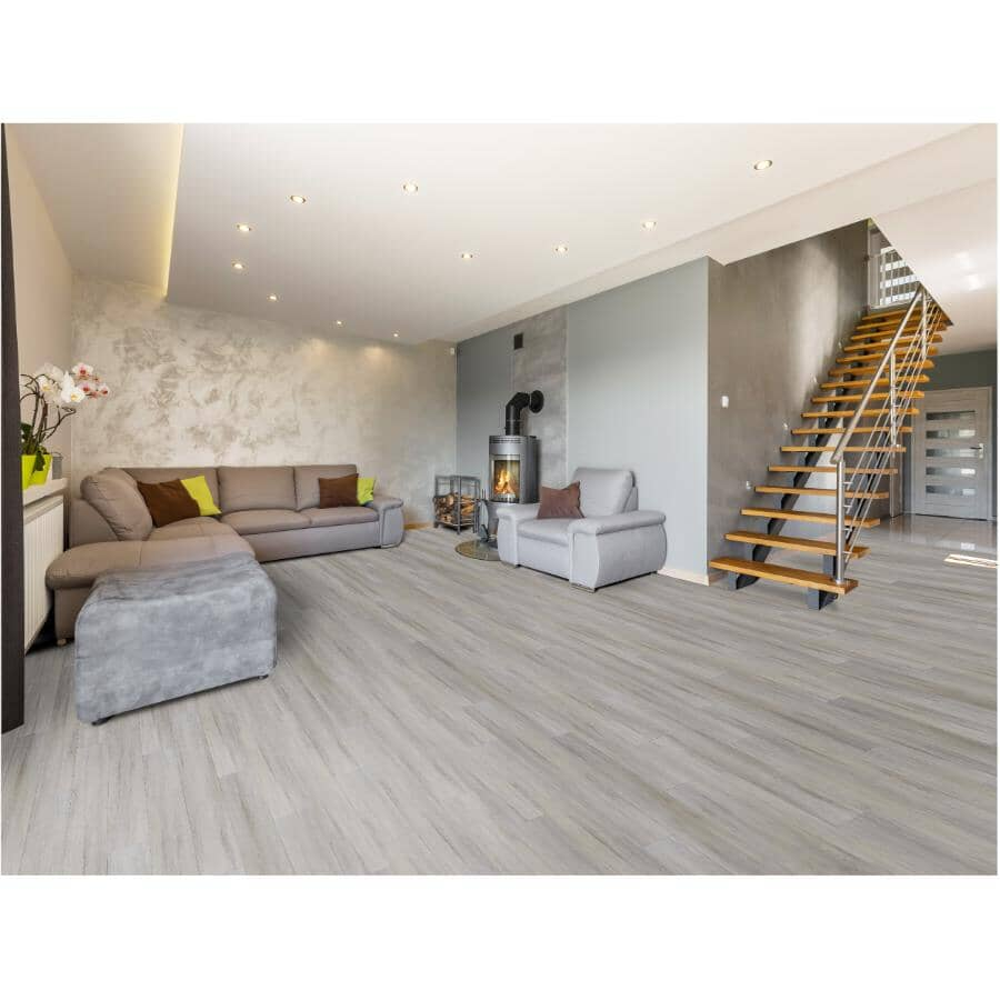 """TAIGA BUILDING PRODUCTS:Stonewear Collection 6"""" x 48"""" SPC Plank Flooring - Hakeme, 19.7 sq. ft."""