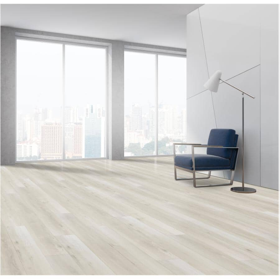 """TAIGA BUILDING PRODUCTS:Stonewear Collection 6"""" x 48"""" SPC Plank Flooring - Bisque, 19.7 sq. ft."""