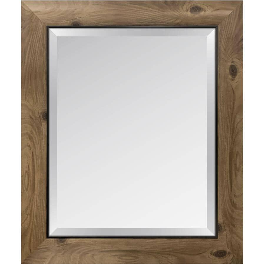 "ERIAS HOME DESIGNS:22"" x 26"" Distressed Bark Wall Mirror"
