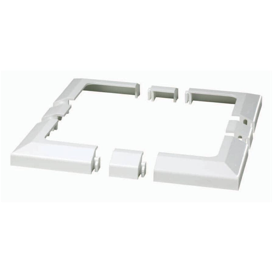 EURAMAX CANADA:Yardcrafters Universal White Vinyl Deck/Railing Flange