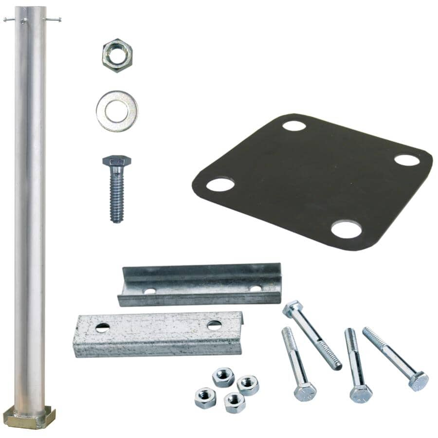 """EURAMAX CANADA:Yardcrafters Aluminum Anchor Kit, for Wood 36"""" or 42"""" Post Mount"""