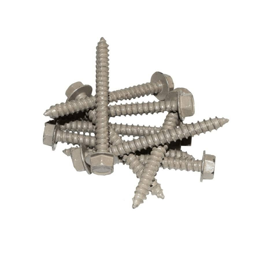 """REGAL IDEAS:24 Pack 2-1/2"""" Taupe Aluminum Lag Screws"""