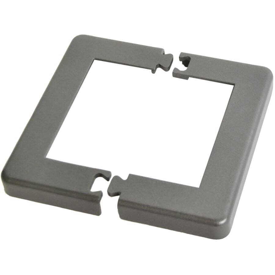 "REGAL IDEAS:Titanium Slate Base Plate Cover, for 4"" Post"