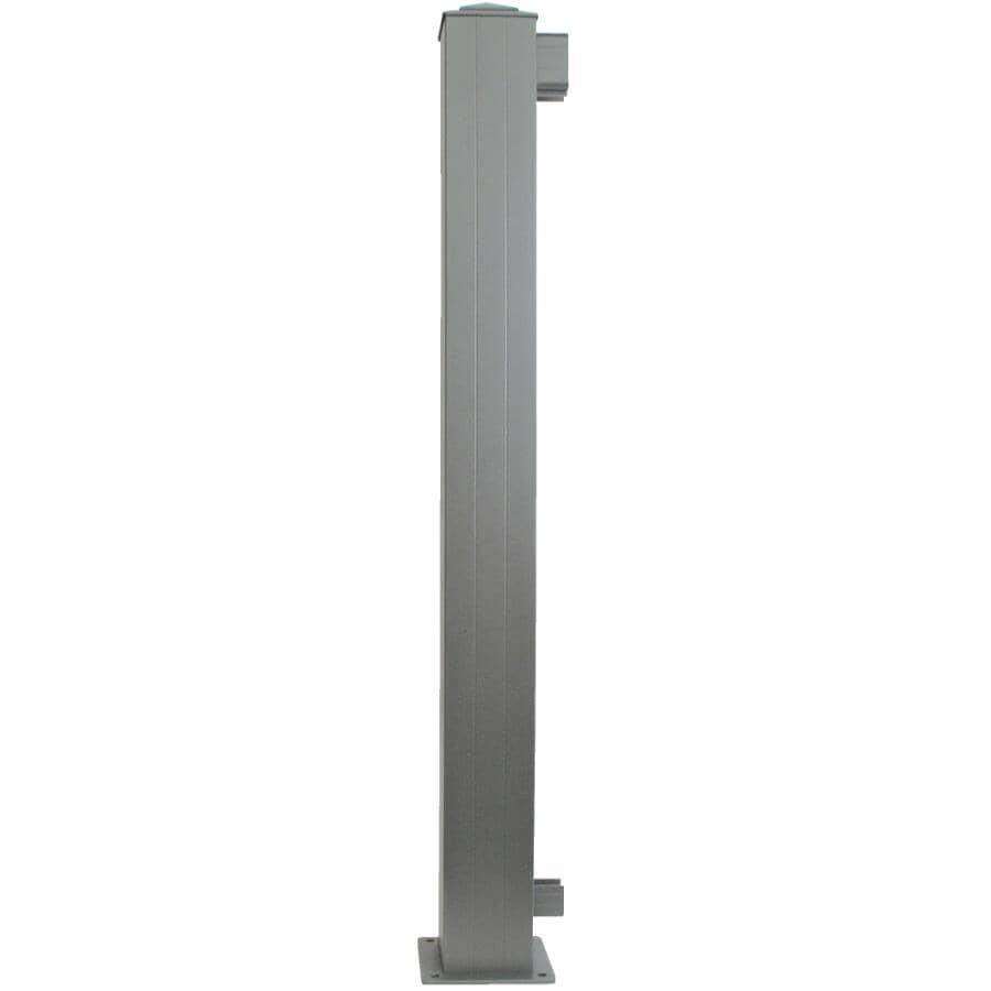 "REGAL IDEAS:4"" x 4"" Titanium Slate Aluminum Railing End Post"