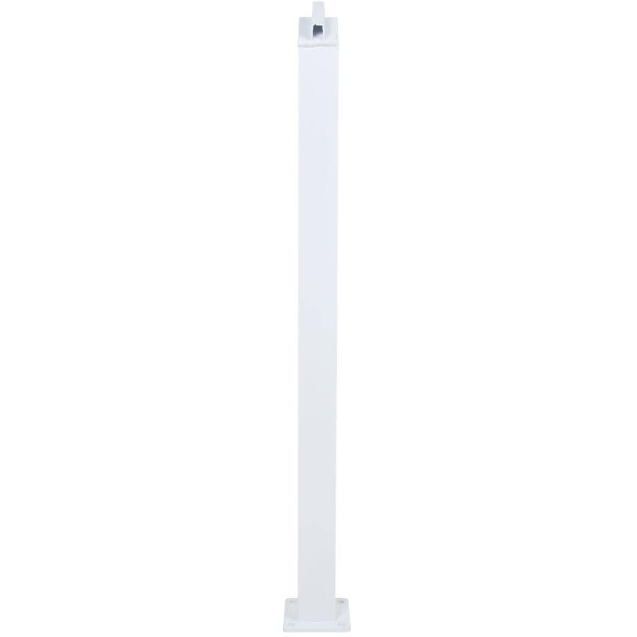 REGAL IDEAS:White Inline Aluminum Railing Stair Post