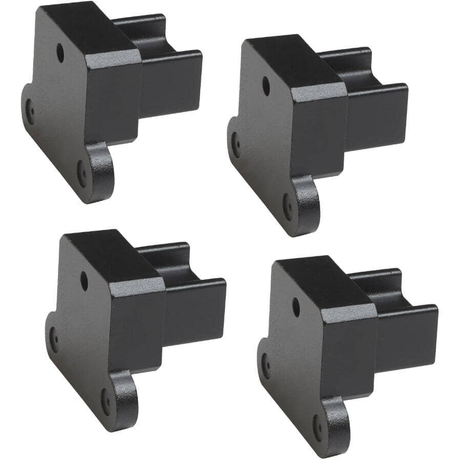 FORTRESS:4 Pack Black Sand Evolve Internal Aluminum Railing Bracket