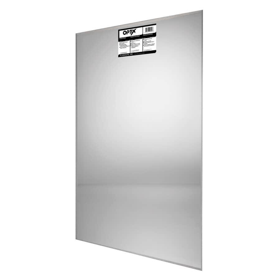 OPTIX:Panneau en acrylique transparent de 24 po x 48 po x 0,080 po d'épaisseur