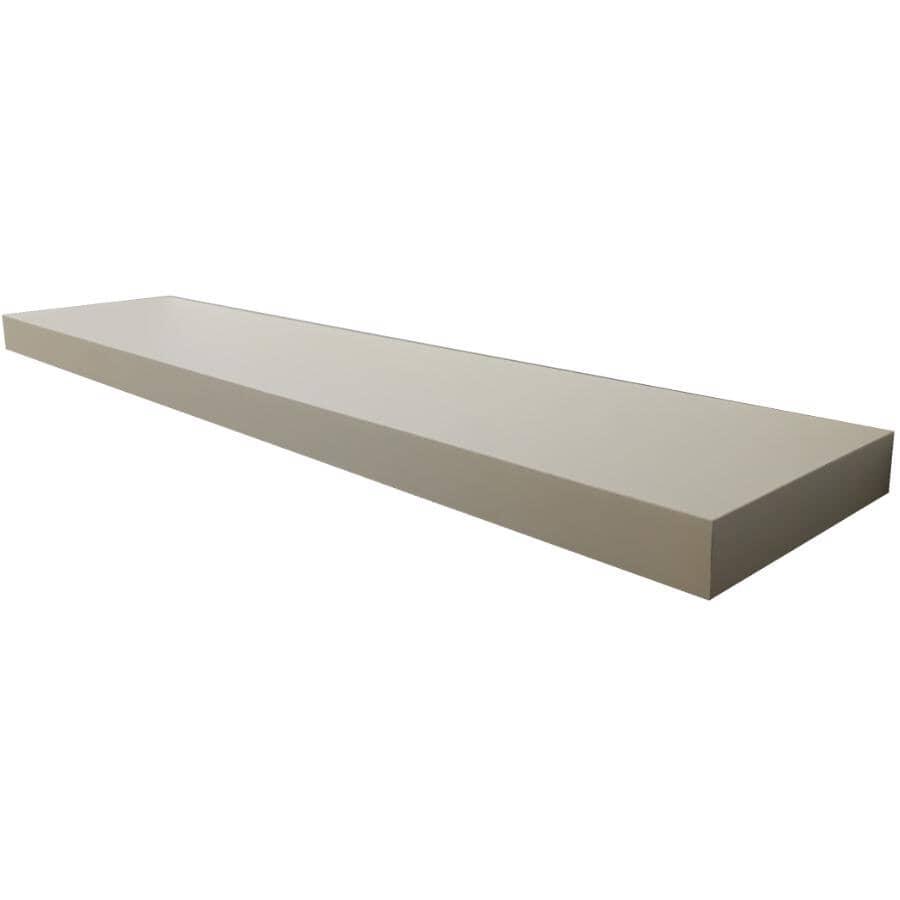 "HOMEWARES:36"" x 8"" x 1.5"" MDF White Floating Shelf"