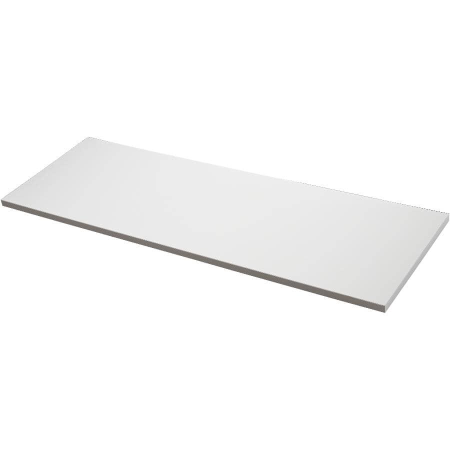 """KNAPE & VOGT:12"""" x 36"""" White Laminated Shelf"""