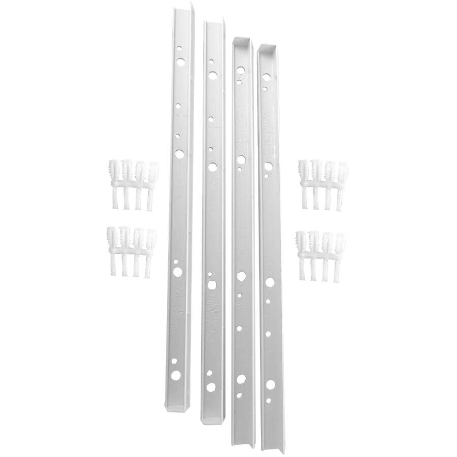 "CREATE A SHELF:2 Pair Per Pack 16"" White ABS Side Shelf Supports"