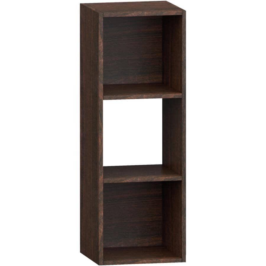 HOMEWARES:3 Cube Storage Organizer - Espresso