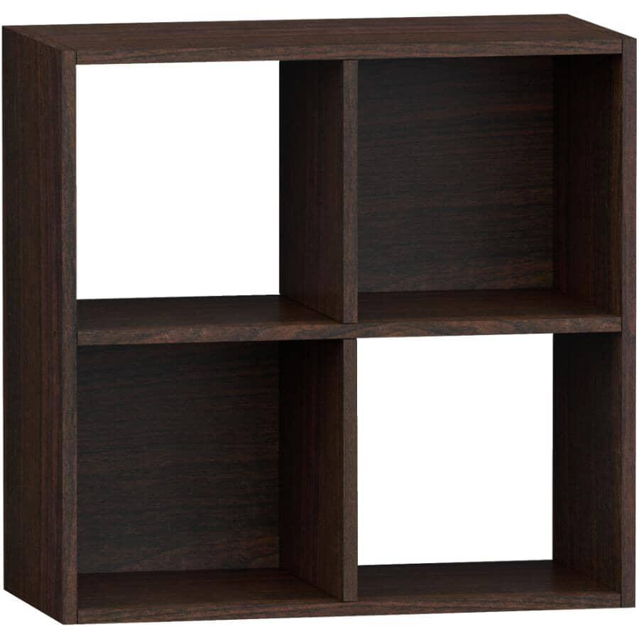 HOMEWARES:4 Cube Storage Organizer - Espresso
