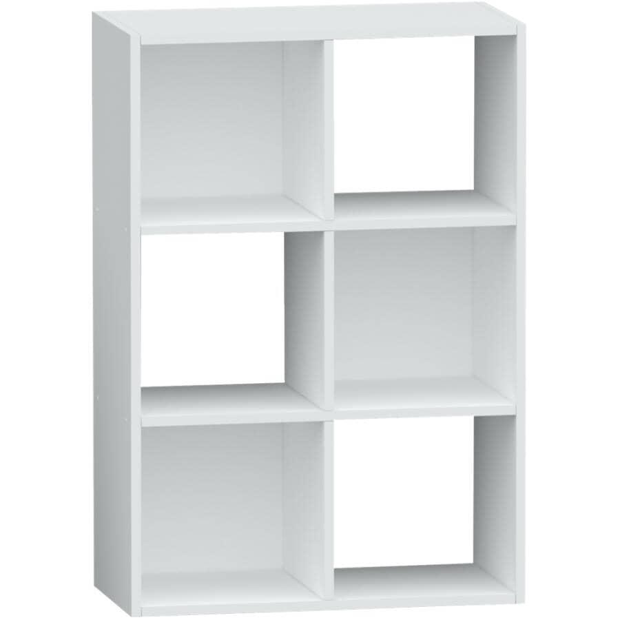 HOMEWARES:6 Cube Storage Organizer - White