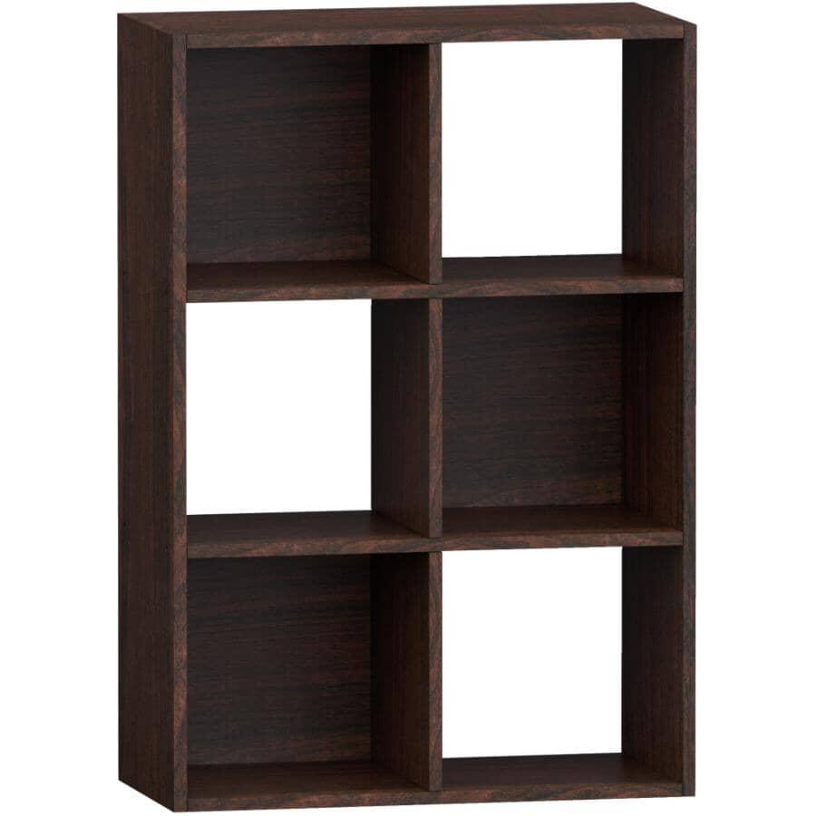 HOMEWARES:6 Cube Storage Organizer - Espresso