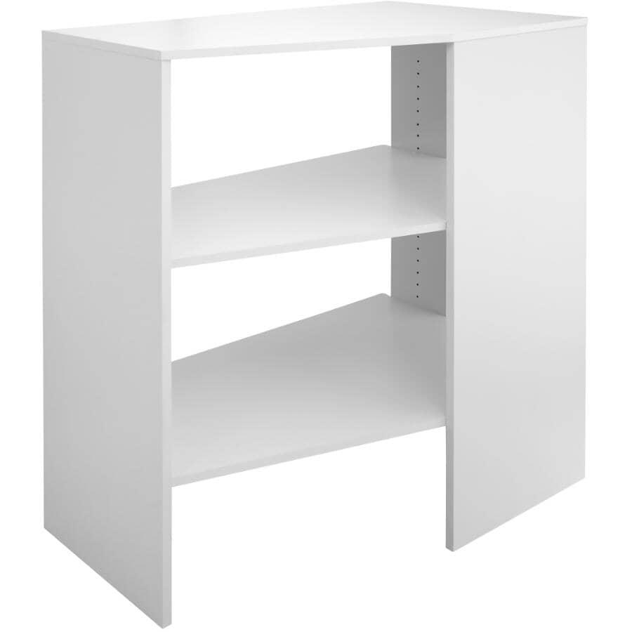 CLOSETMAID:SuiteSymphony Corner Organizer - 3 Shelf + Stackable + Pure White