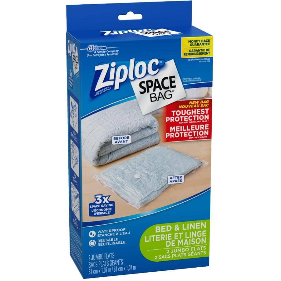 ZIPLOC:2 Pack Jumbo Space Bag Storage Bags
