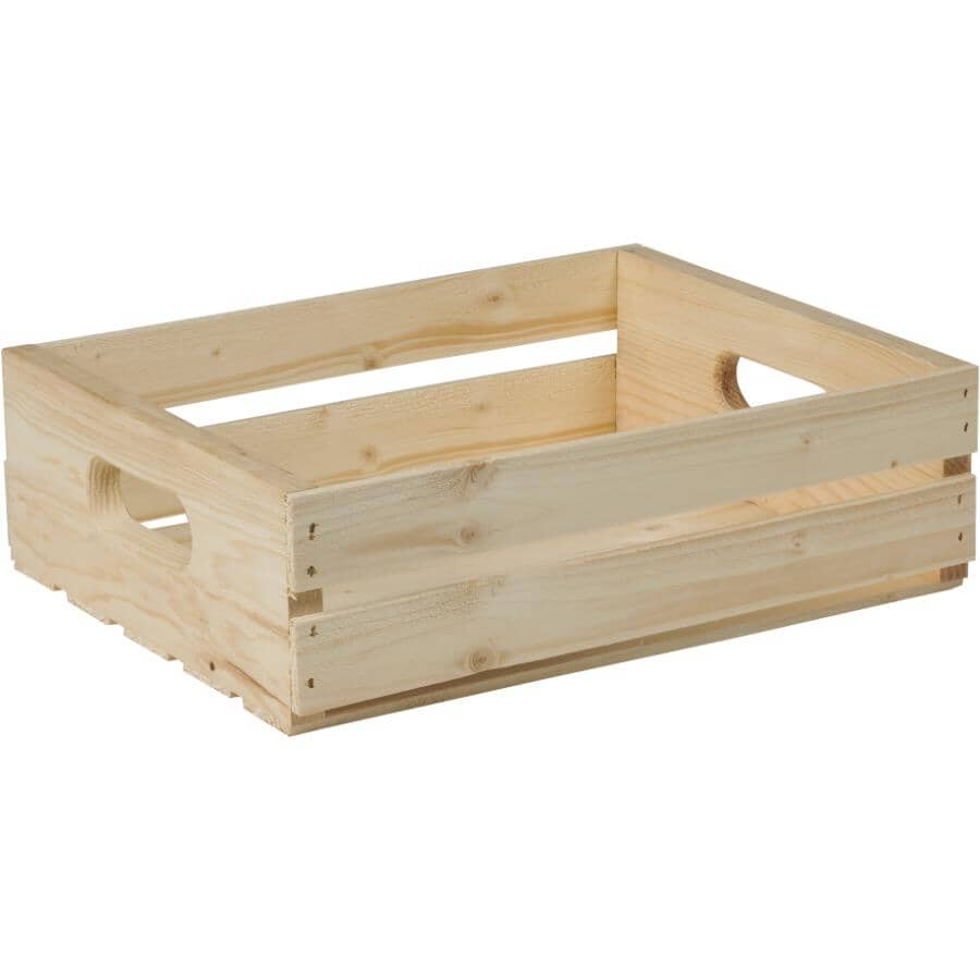 "ADWOOD MANUFACTURING:16"" x 12.5"" x 4.75"" Pine Crate"