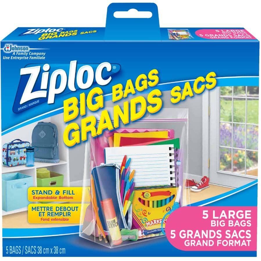 ZIPLOC:5 Pack Large Storage Bags