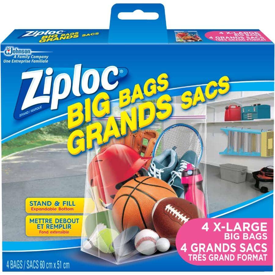 ZIPLOC:4 Pack X-Large Storage Bags