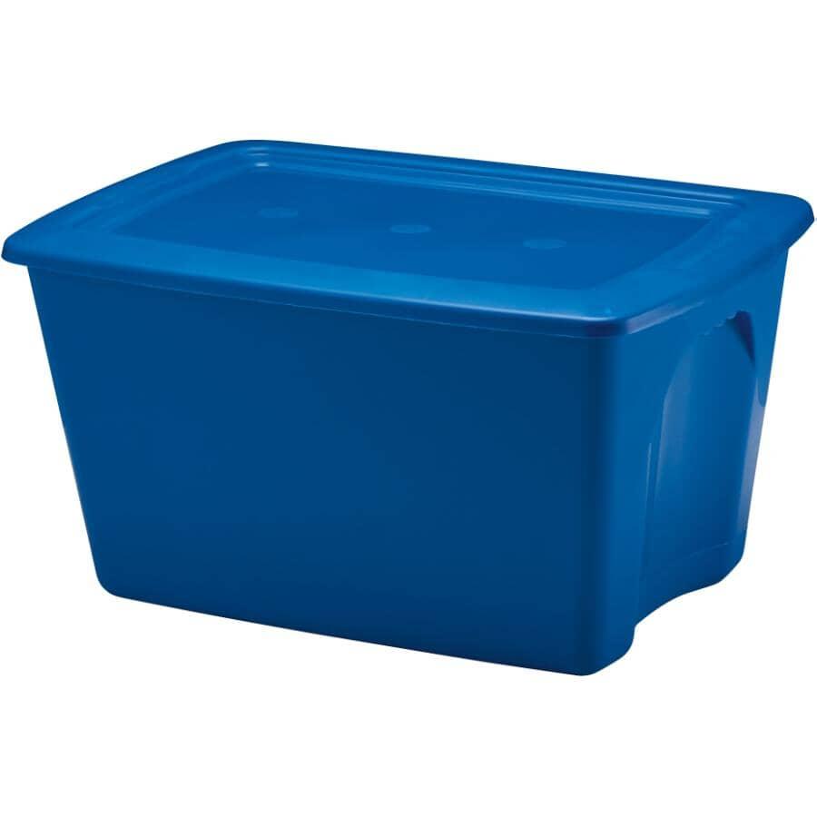 STAR PLASTICS:67L Blue Storage Box, with Lid