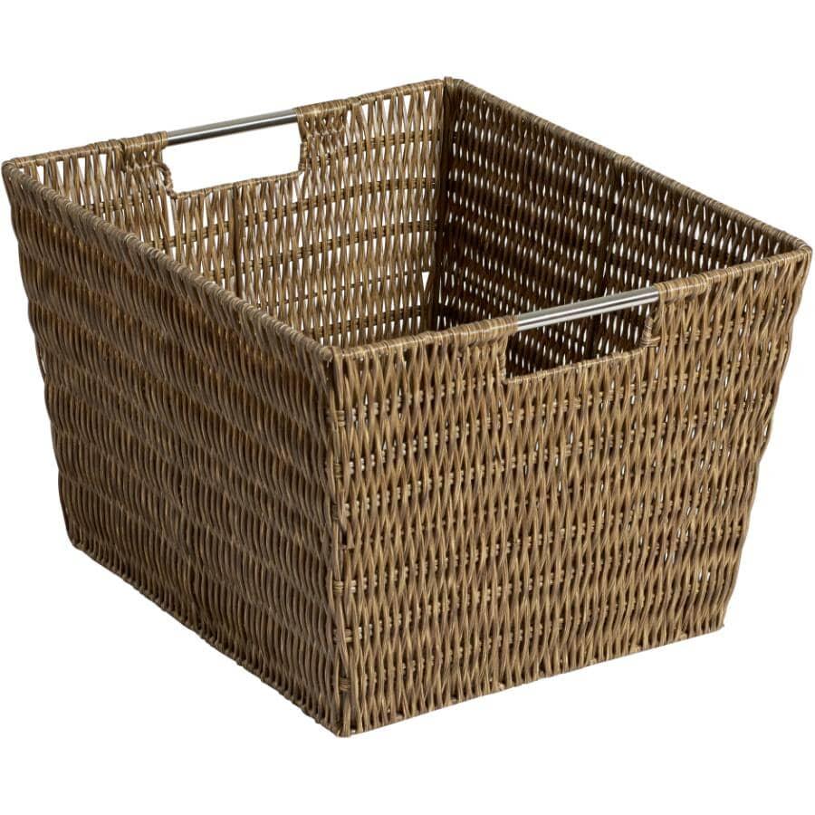 "WHITMOR:13"" x 15"" x 9.6"" Dark Storage Basket"