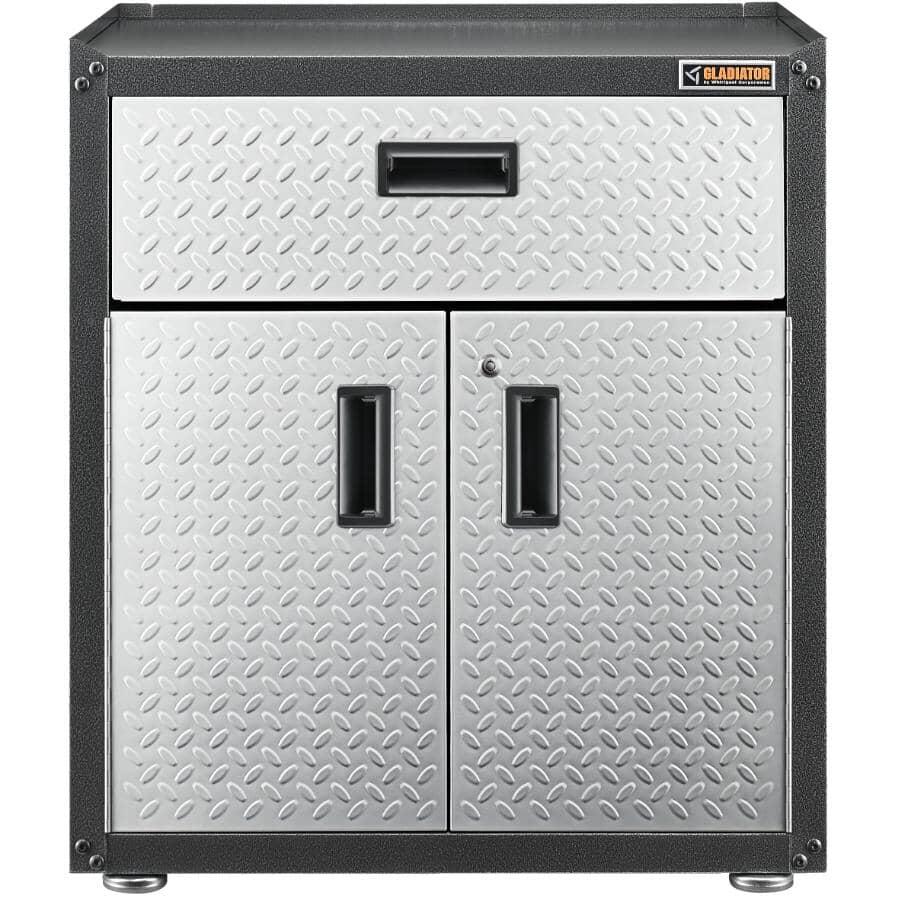GLADIATOR GARAGEWORKS:Armoire de plancher à 2 portes 3/4 de hauteur GearBox prête à assembler, avec tiroir
