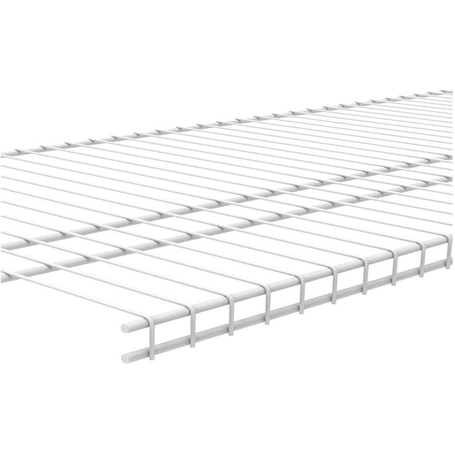 "CLOSETMAID:16"" x 8' White Superslide Wire Shelf"