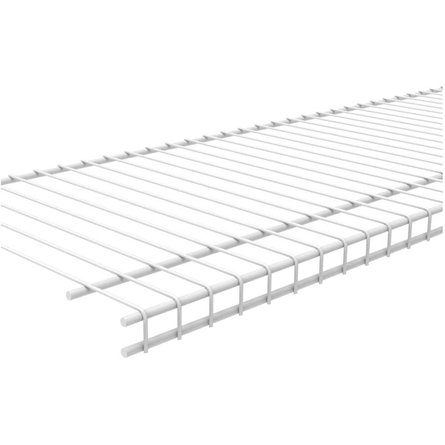 "CLOSETMAID:12"" x 12' White Superslide Wire Shelf"