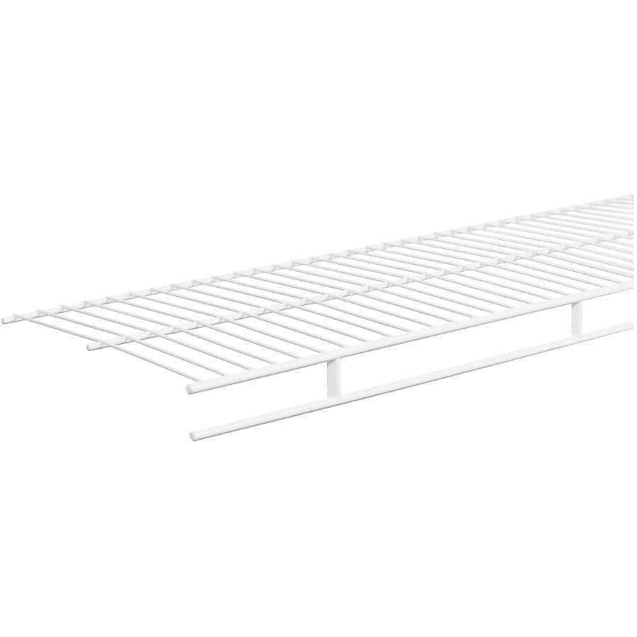 "CLOSETMAID:12"" x 12' White Wire Shelf, with Rod"