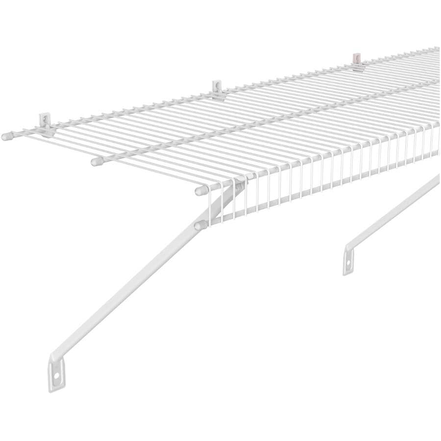 "CLOSETMAID:12"" x 12' White Wire Close Mesh Shelf"