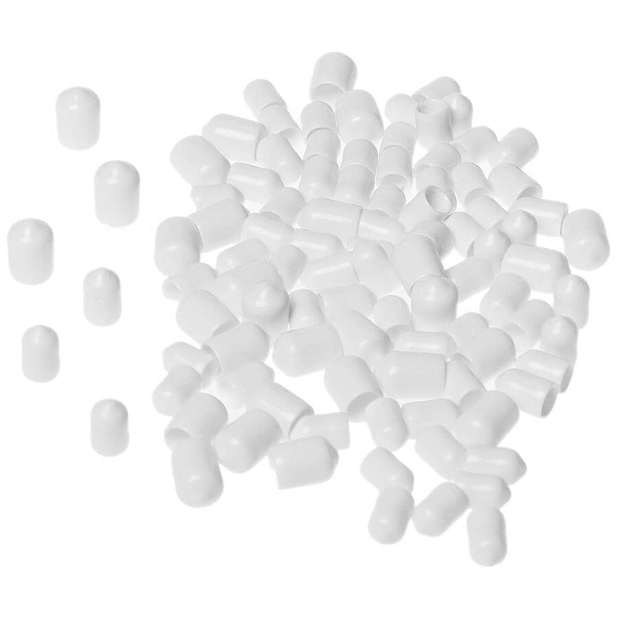 CLOSETMAID:84 Pack White Wire Shelf End Caps, Assorted Sizes
