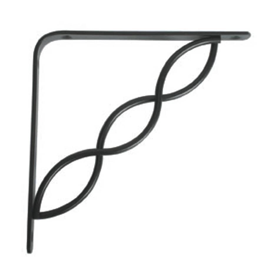 "JOHN STERLING:6"" Decorative Black Scroll Shelf Bracket"