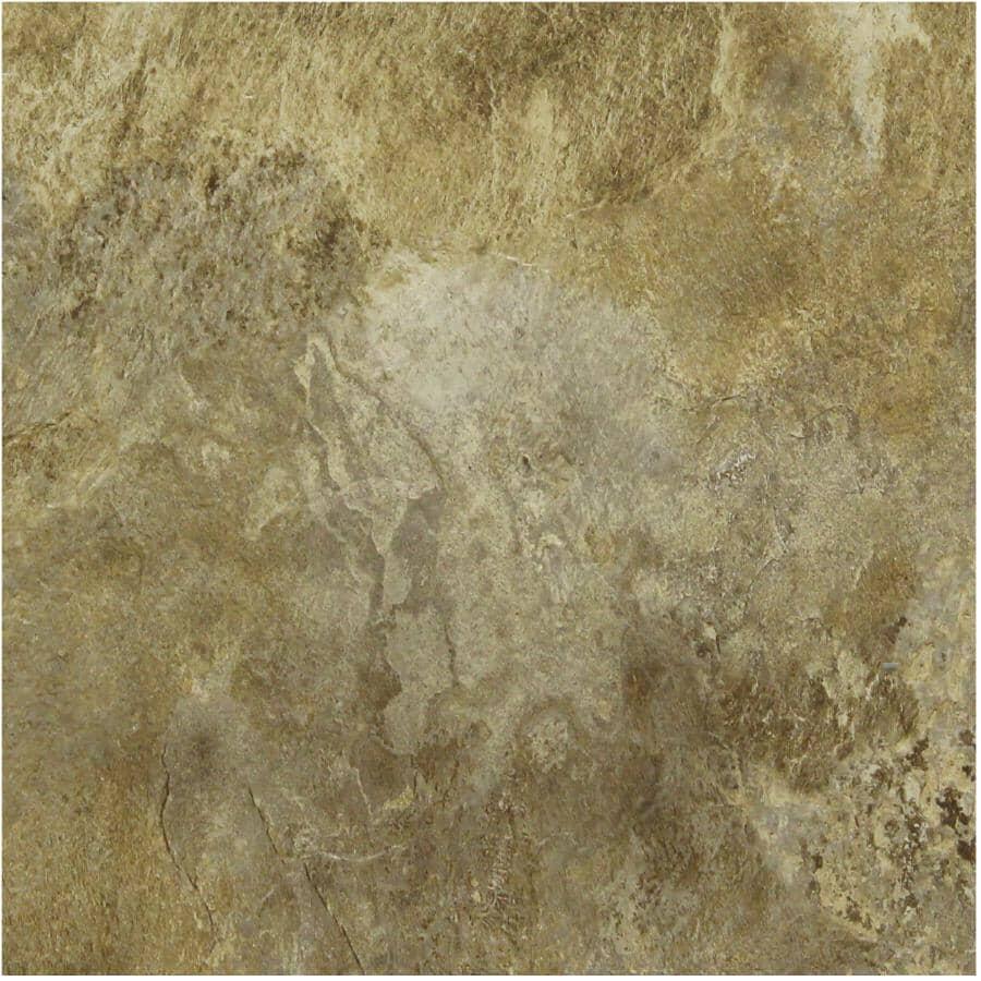 "SHNIER:24 sq. ft. 12"" x 24"" 10mm Canterra Press & Go Expresso Vinyl Tile Flooring"