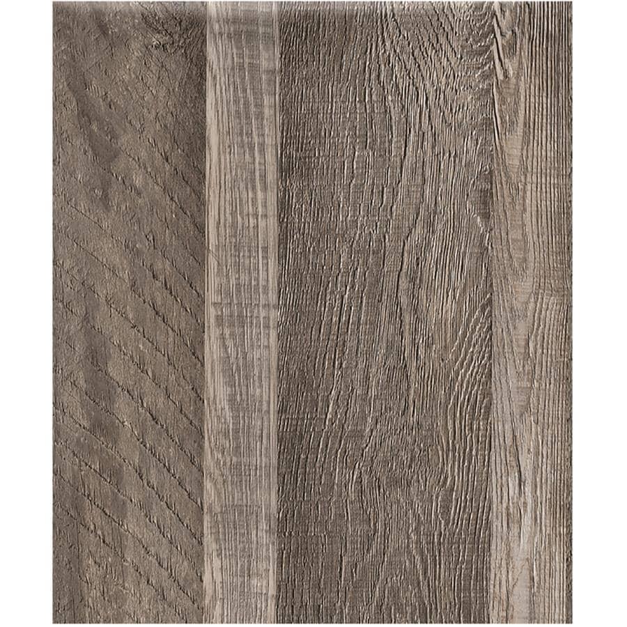 "SHNIER:24 sq. ft. 6"" x 36"" 10mm Edelweiss Press & Go Expresso Vinyl Plank Flooring"