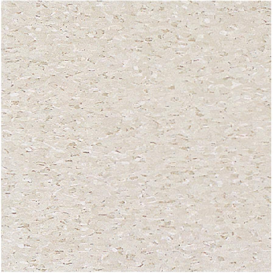 "ARMSTRONG FLOORING:12"" x 12"" Pearl White Commercial Vinyl Tile Flooring"