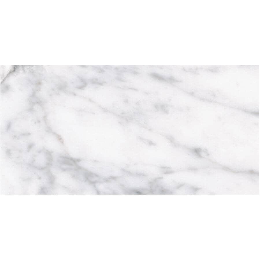 "SHNIER:16 sq. ft. 12"" x 24"" Flat Carrara Roman Porcelain Tile Flooring"