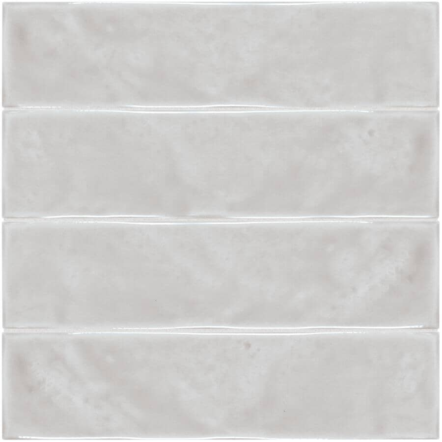 """SHNIER:Pescara Collection 3"""" x 12"""" Ceramic Wall Tiles - Taupe, 10.56 sq. ft."""