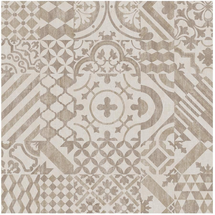 """TAIGA BUILDING PRODUCTS:Easy Way Collection 18"""" x 18"""" Loose Lay Vinyl Tile Flooring - Mediterranean, 23.25 sq. ft."""