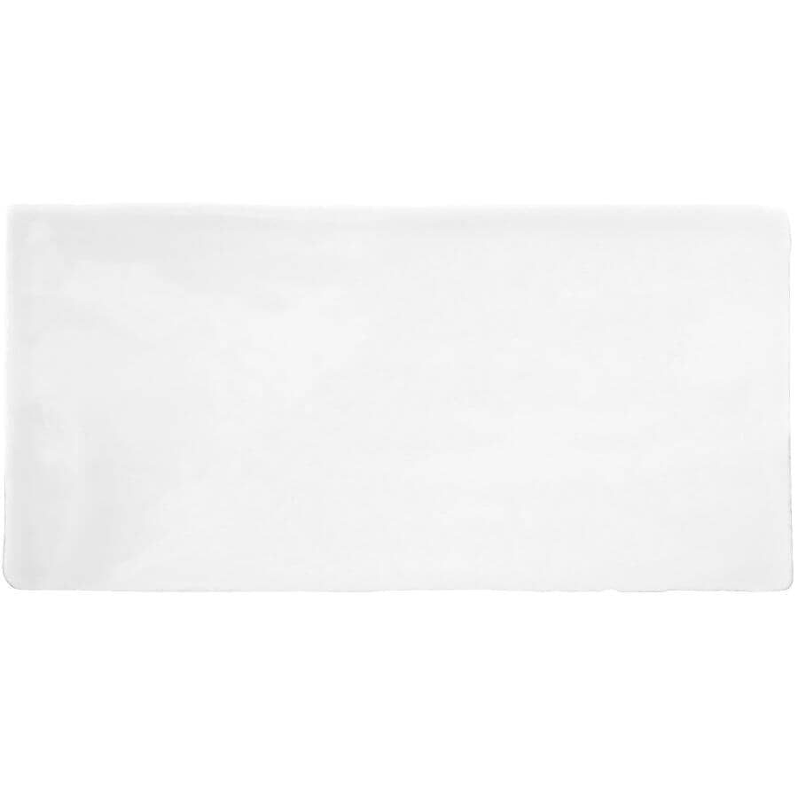 "CENTURA:Masia Collection 3"" x 6"" Ceramic Subway Tile - White, 5.5 sq. ft."