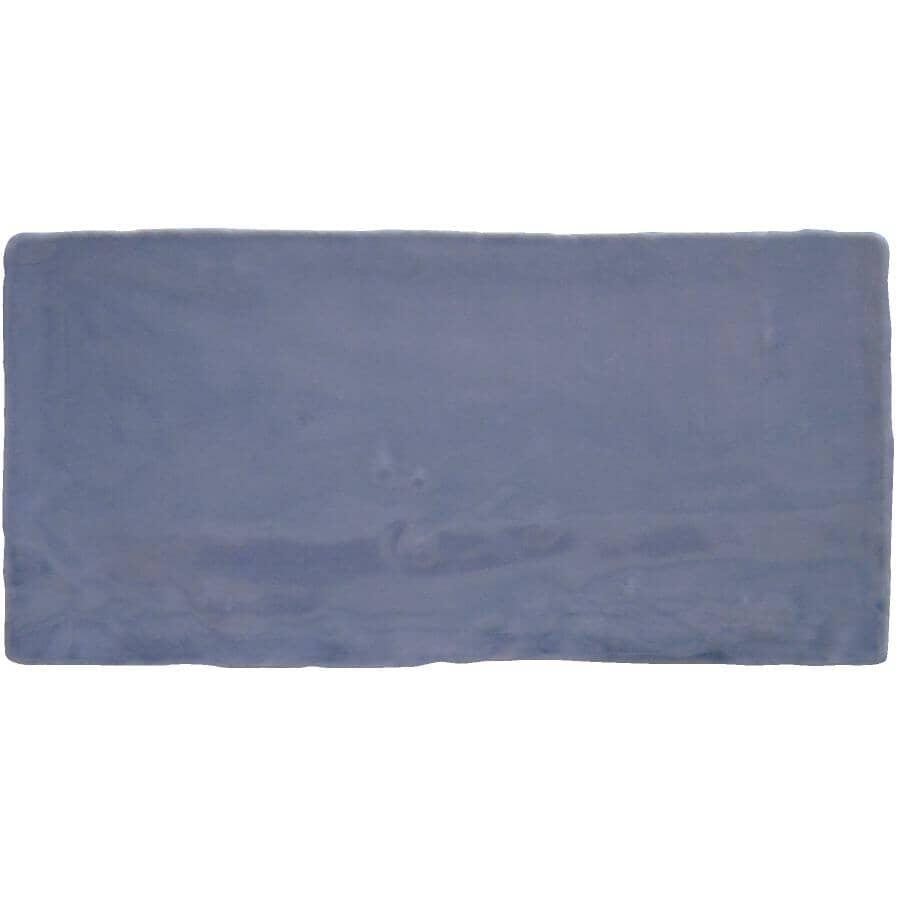 CENTURA:Carreaux de style Subway en céramique de 3 x 6 po de la collection Masia, bleu, 5,5 pieds carrés