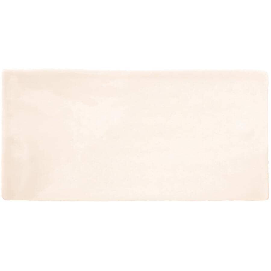 """CENTURA:Masia Collection 3"""" x 6"""" Ceramic Subway Tile - Cream, 5.5 sq. ft."""