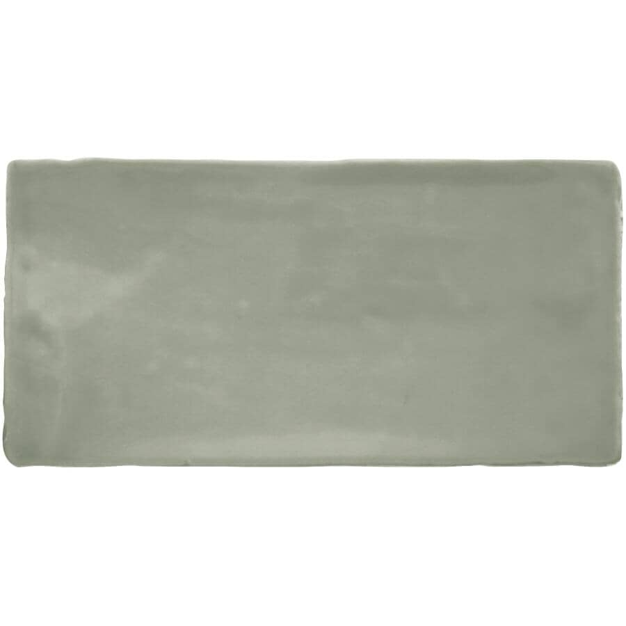 """CENTURA:Masia Collection 3"""" x 6"""" Ceramic Subway Tile - Jade, 5.5 sq. ft."""