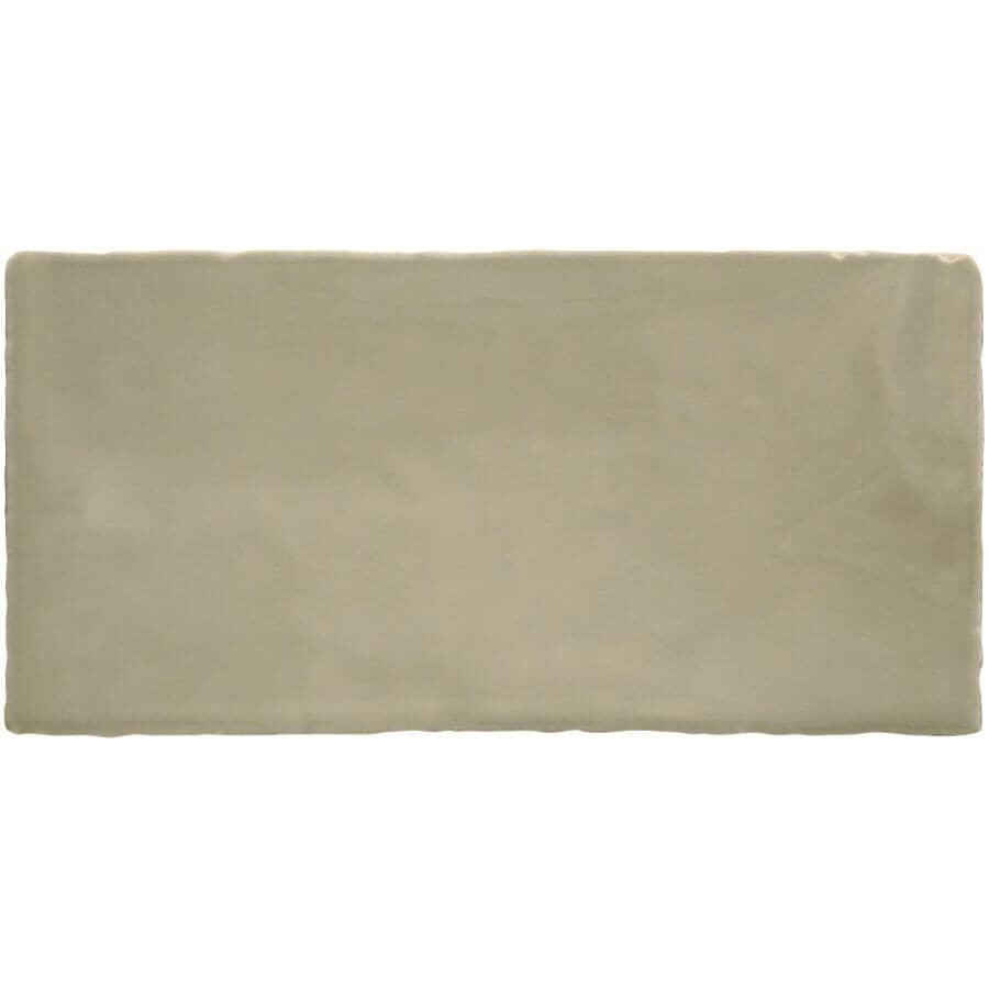 "CENTURA:Masia Collection 3"" x 6"" Ceramic Subway Tile - Olive, 5.5 sq. ft."