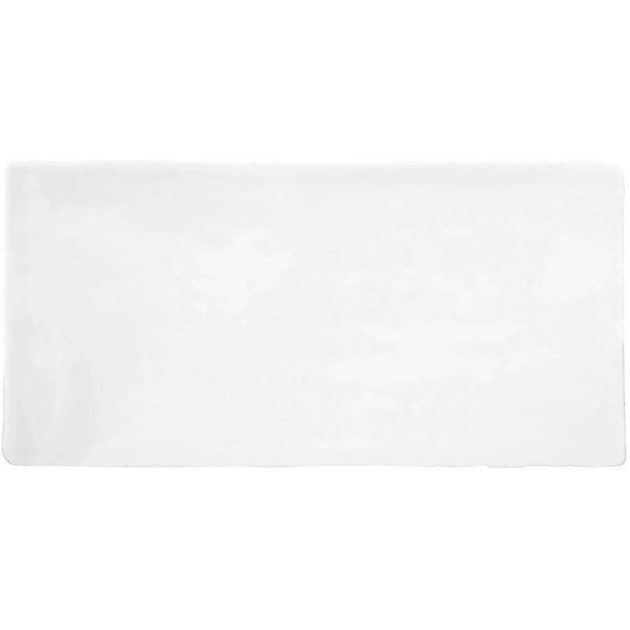 "CENTURA:Masia Collection 3"" x 12"" Ceramic Subway Tile - White, 5.5 sq. ft."