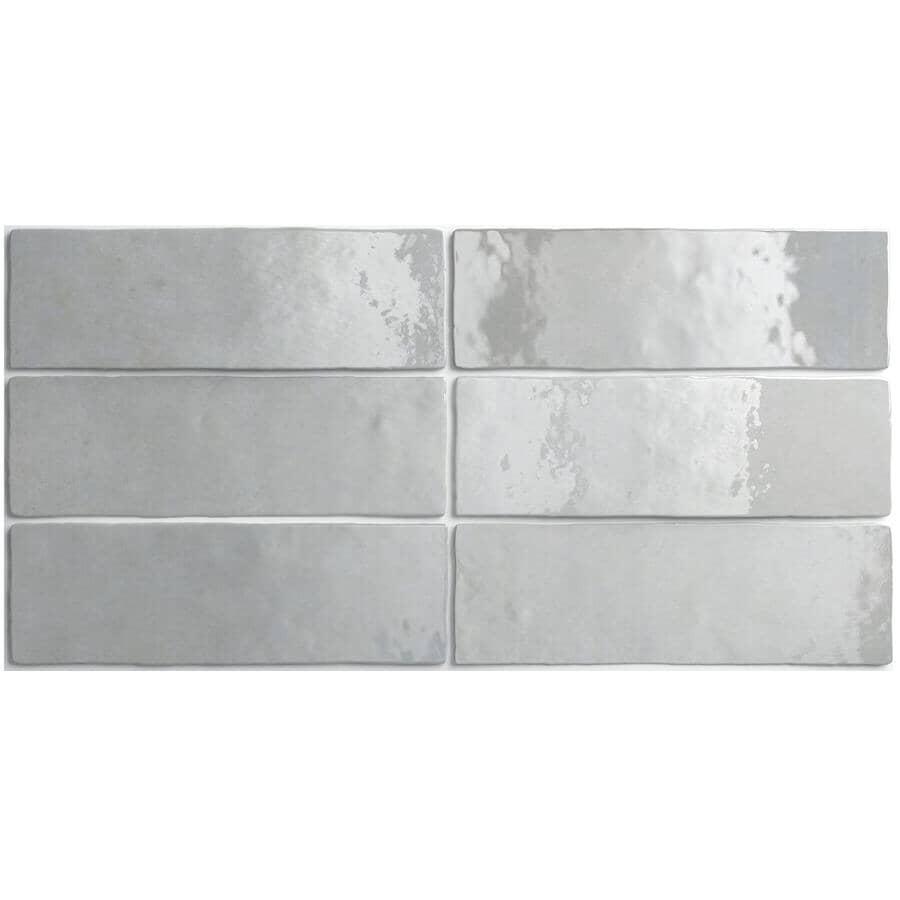 "CENTURA:Artisan Collection 2.5"" x 8"" Ceramic Subway Tile - Alabaster, 5.27 sq. ft."