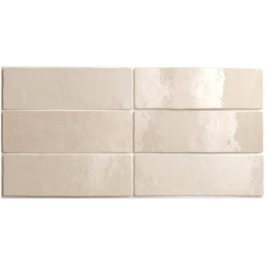 "CENTURA:Artisan Collection 2.5"" x 8"" Ceramic Subway Tile - Ochre, 5.27 sq. ft."