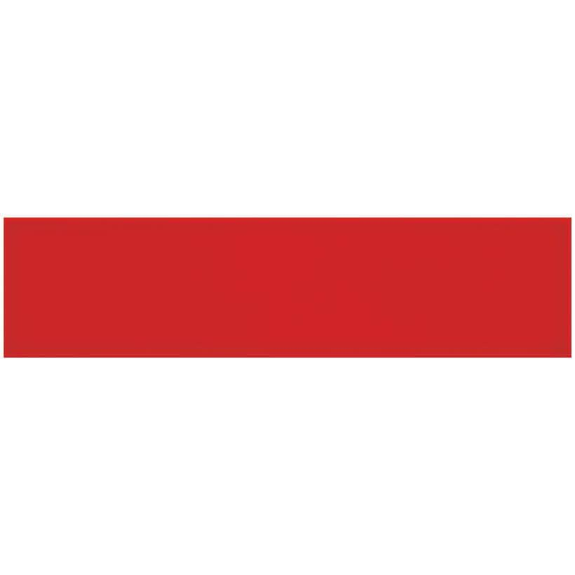 """CENTURA:Rainbow Collection 4"""" x 16"""" Ceramic Wall Tiles - Matte Red, 10.81 sq. ft."""