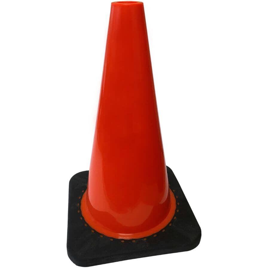 """WORKHORSE:Weighted Safety Cone - Orange, 18"""""""