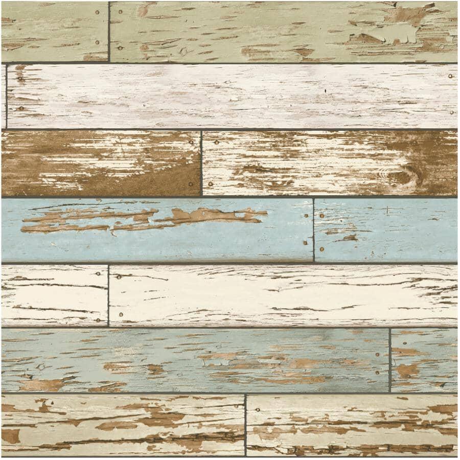 "WALLPOPS:Old Salem Vintage Wood Plank Peel & Stick Wallpaper - 20.5"" x 18'"